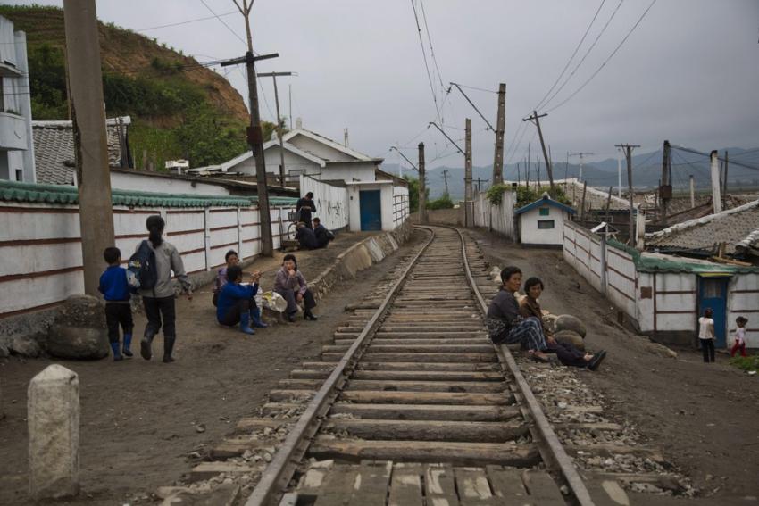 Железнодорожные пути в Северной Корее